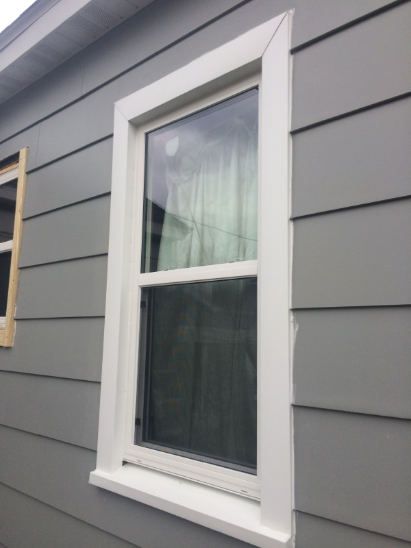 New windows and aluminum trim wrap complete service for Windows for my house